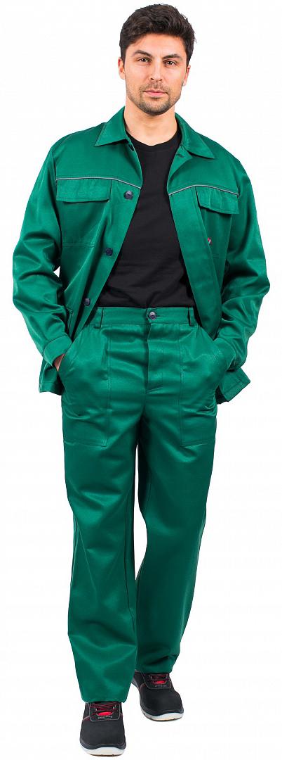 Костюм Эксперт-1 (тк.Смесовая,210) брюки, зеленый