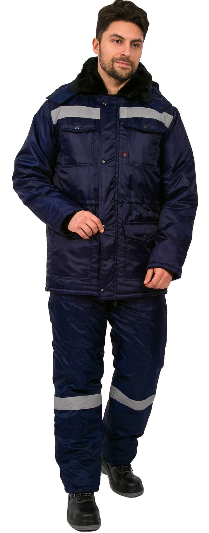 Костюм зимний мужской Мастер (тк.Оксфорд) п/к, т.синий