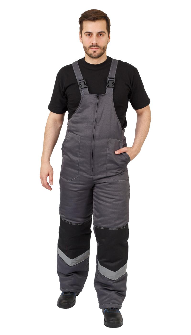 Костюм мужской «Ударник» зимний куртка, п/к т-серый с черным и СОП