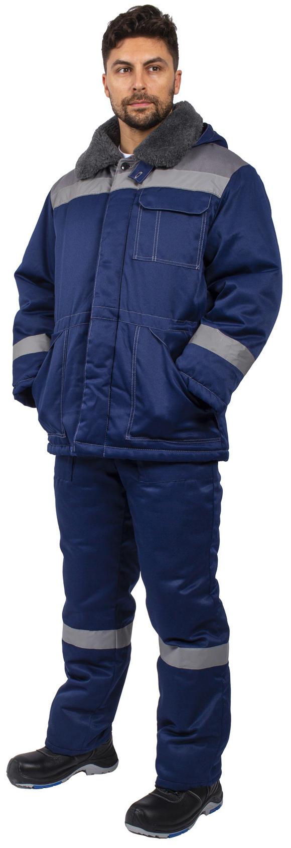Костюм зимний Легион-Ультра СОП (тк.Смесовая,210) брюки, т.синий/серый