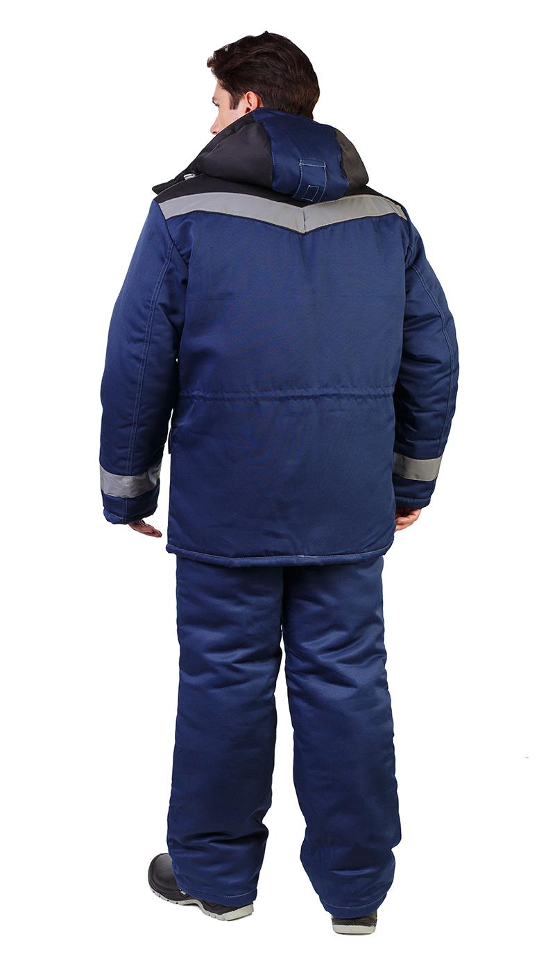 Костюм мужской «Ударник» зимний куртка, п/к т-синий с черным и СОП