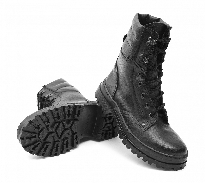 Ботинки ОМОН хром (натуральный мех)