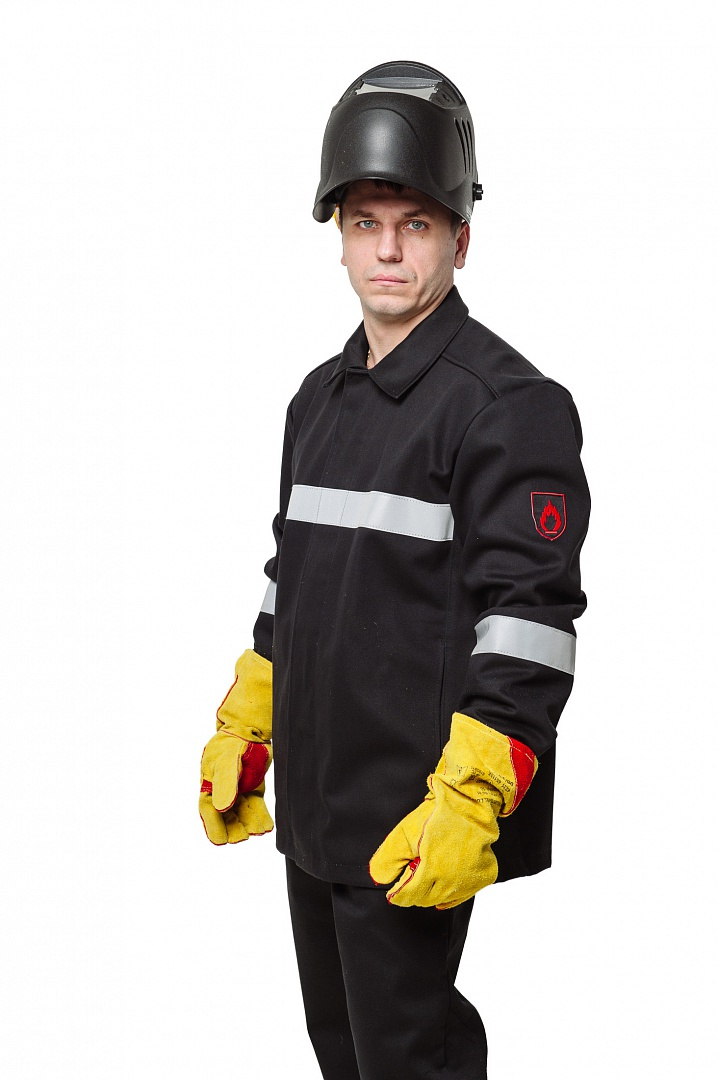 Костюм сварщика WORKER (3 кл.защиты) КСв №124 W, черный