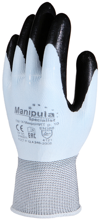 Перчатки Манипула Микронит (TNI-14, нейлон+нитрил)
