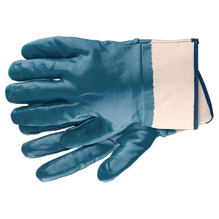 Перчатки нитриловые обливные крага