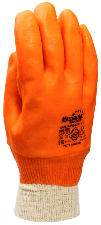 Перчатки Манипула Нордик РП (TP-06, 6/72, манжет-резинка)