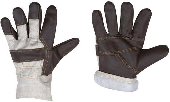 Перчатки кожаные комбинированные иск. мех