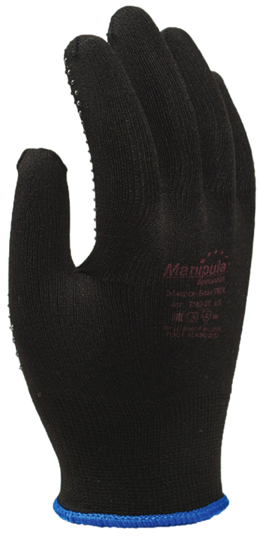 Перчатки Манипула Микрон Блэк ПВХ (TNG-28, черн. нейлон + ПВХ)