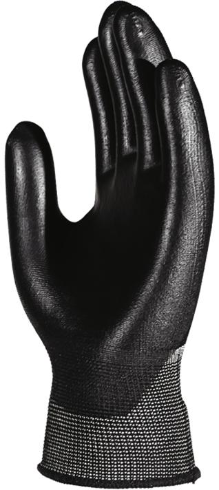 Перчатки Манипула Микропол (TPU-12, черный нейлон+п/у)