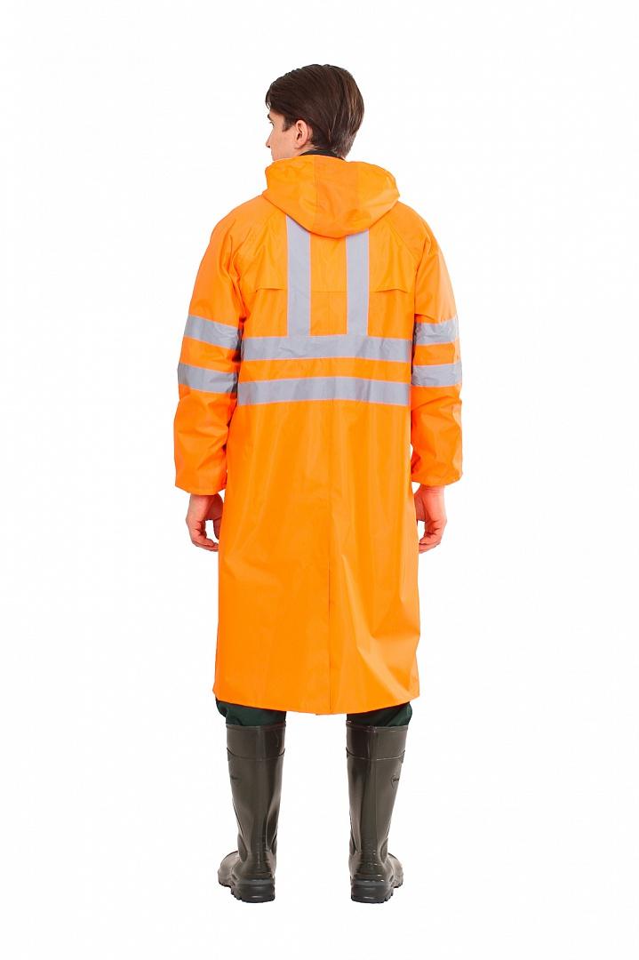 Плащ влагозащитный сигнальный СОП, оранжевый