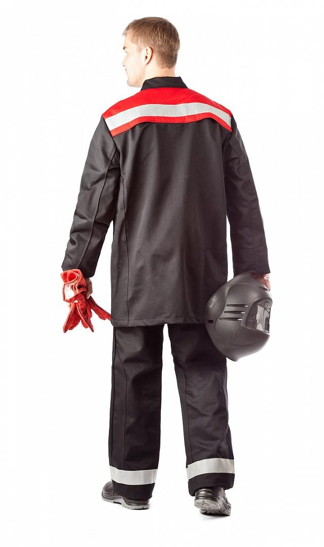 Костюм сварщика Премиум (2 кл.защиты) черный/красный