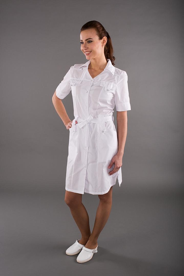 Халат женский медицинский Фрезия, белый