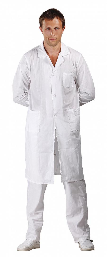 Халат медицинский мужской бязь ГОСТ, белый