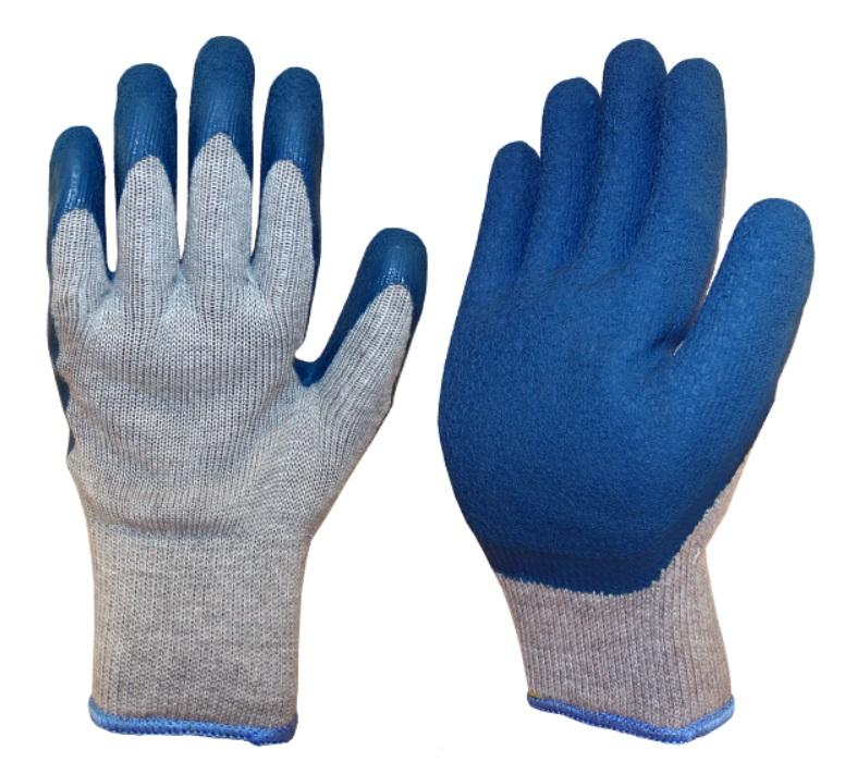 Перчатки двойные трикотажные ДИНГО с покрытием из нат латекса (Россия)