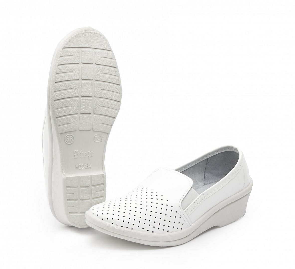 Туфли летние женские кожаные Аня, белый