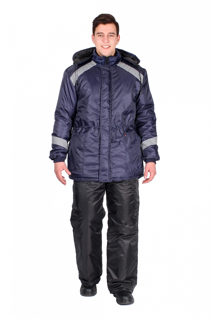 Куртка зимняя мужская Прогресс (тк.Оксфорд), т.синий