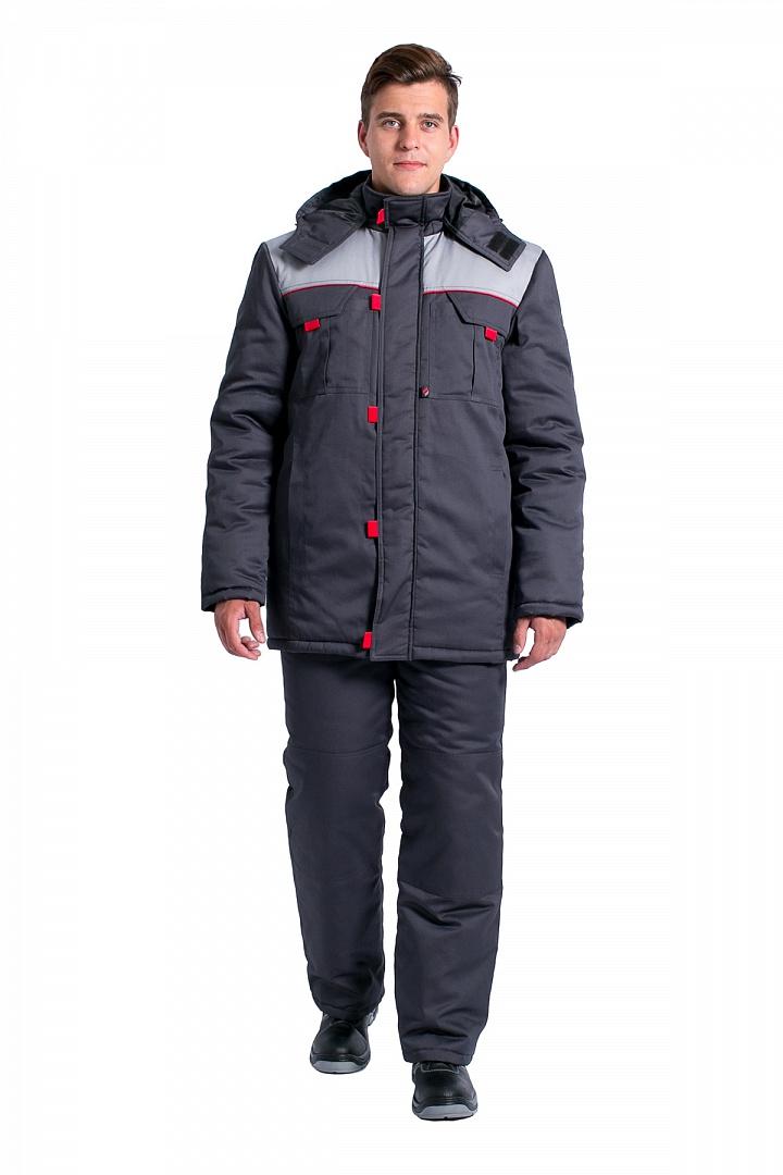 Куртка зимняя мужская Фаворит NEW (тк.Балтекс,210), т.серый/серый