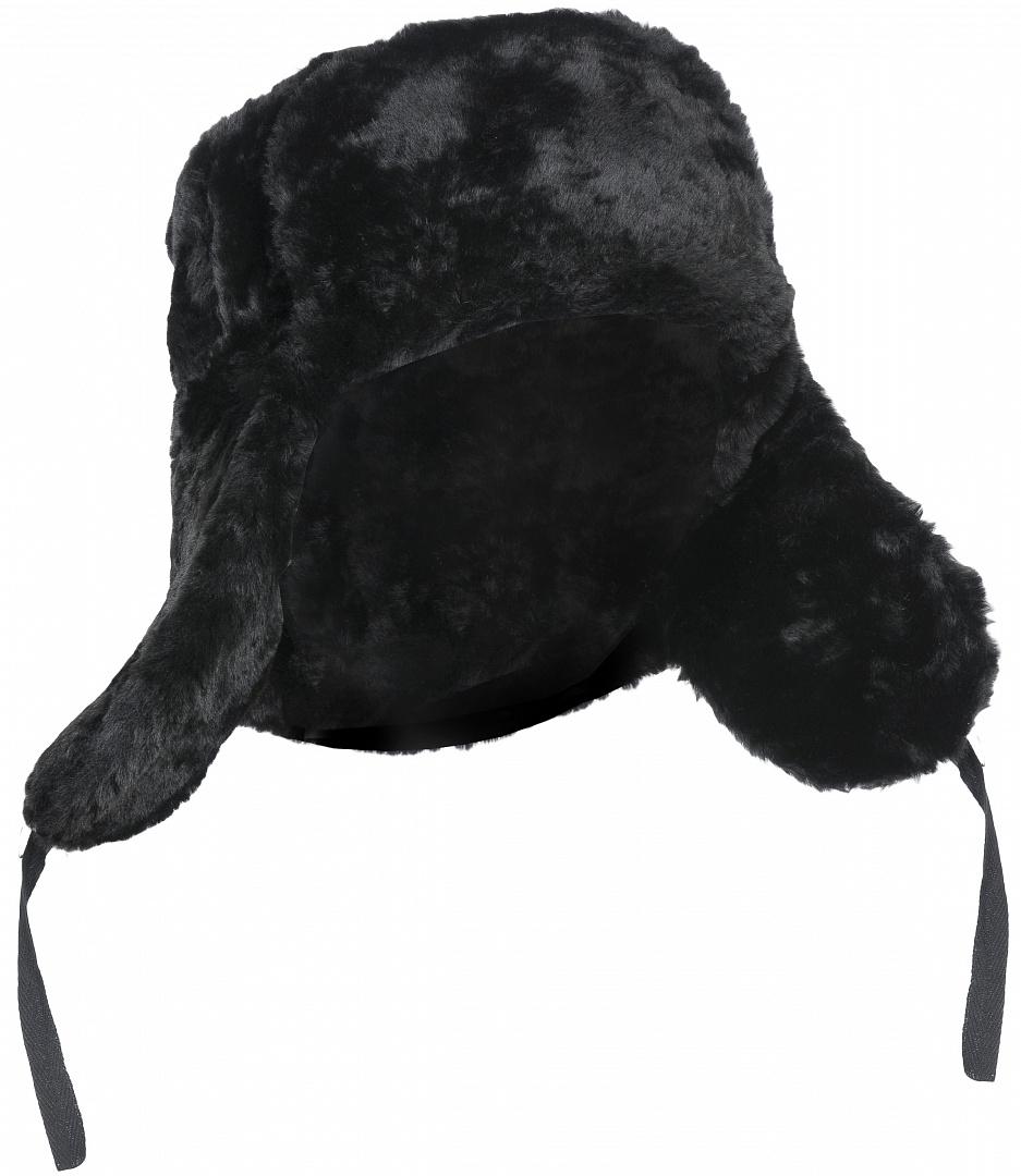 Шапка искусственный мех, черный