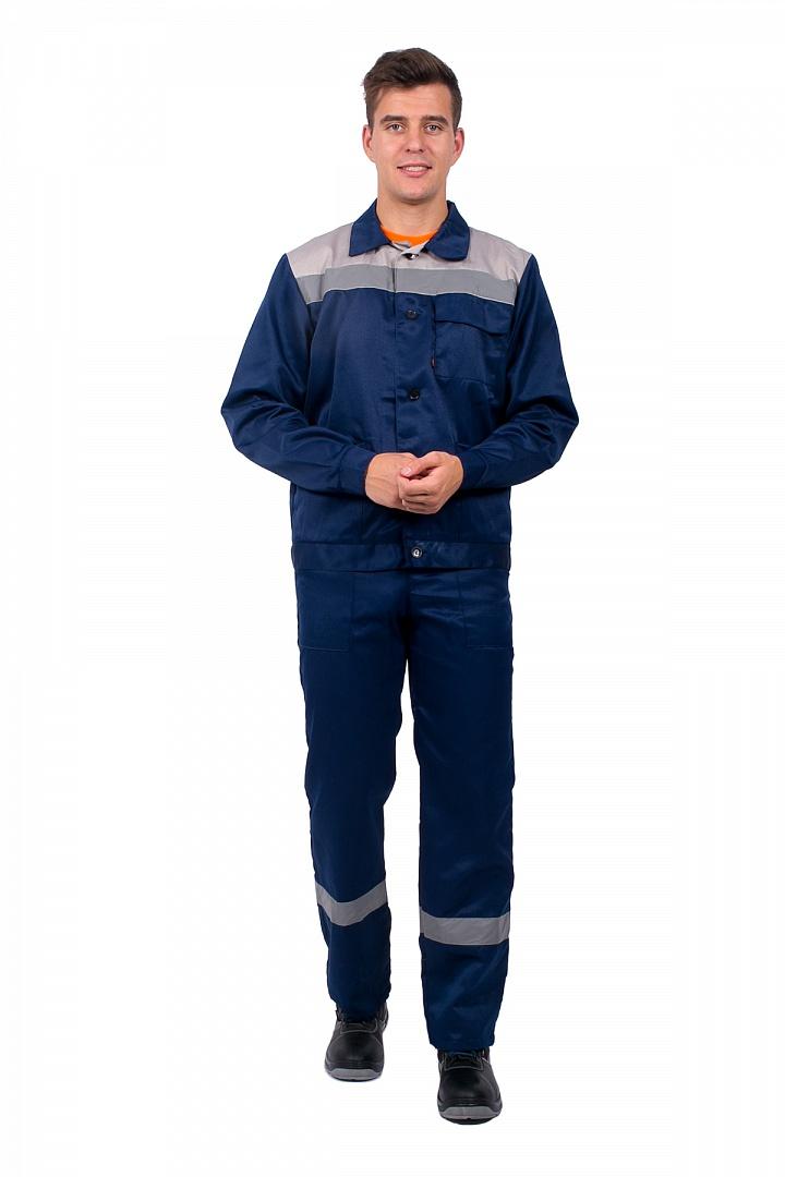 Костюм Труженик-2 СОП (п/к), т.синий/серый