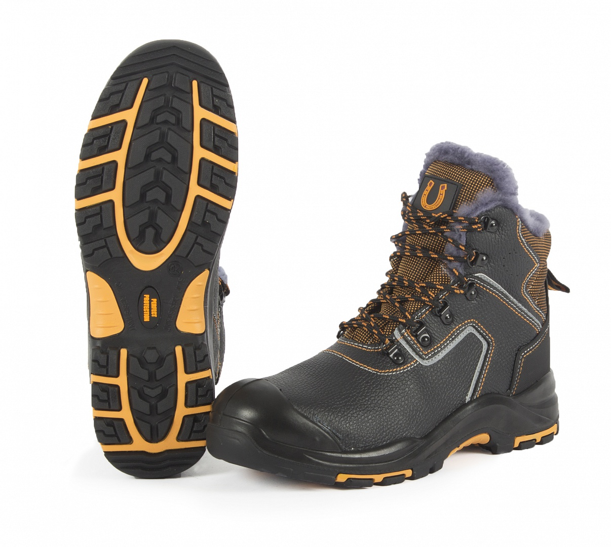 Ботинки высокие (нат.мех) PERFECT PROTECTION КП МС ПУ/Нитрил