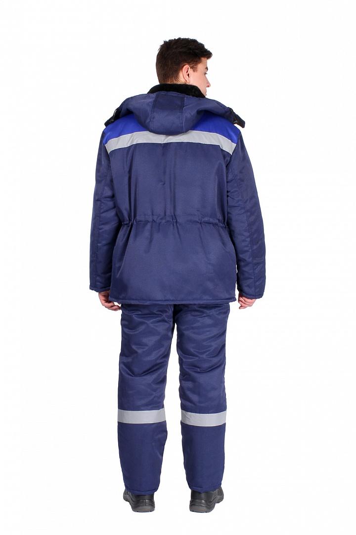 Костюм зимний мужской Труженик-Ультра (тк.Смесовая,210) брюки, т.синий/васильковый
