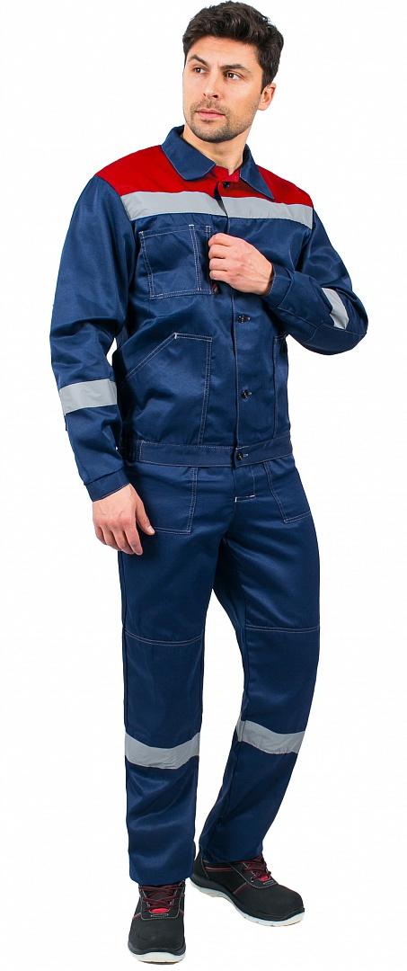 Костюм Легион-1 СОП (тк.Смесовая,210) брюки, т.синий/красный