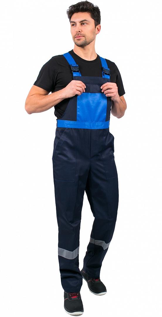 Костюм МАСТЕР (тк.Смесовая,210) п/к, т.синий/васильковый