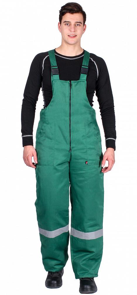 Полукомбинезон зимний Эксперт-Люкс (тк.Смесовая,210), зеленый