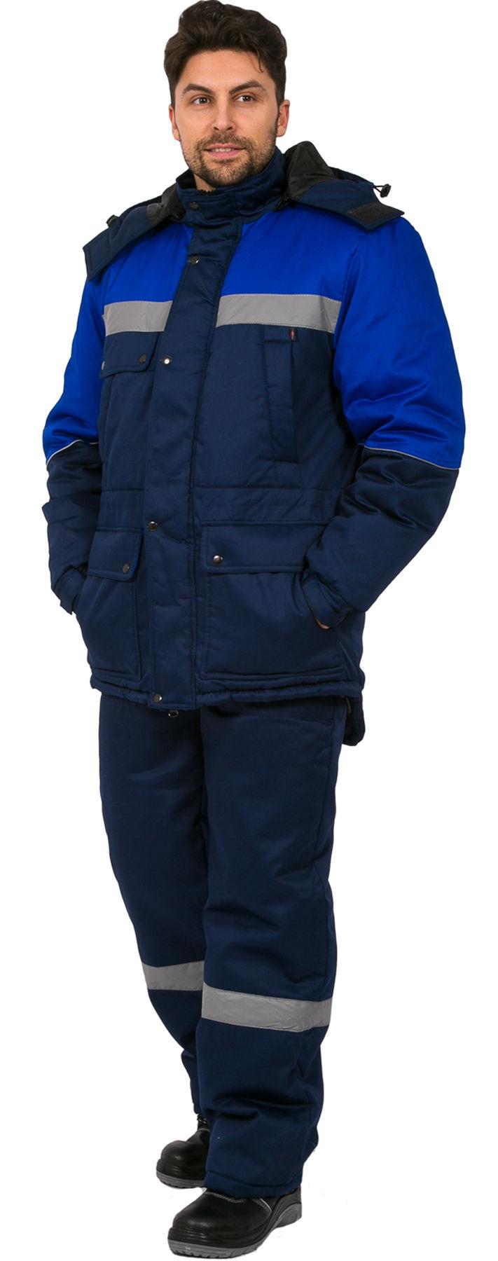 Костюм зимний Сибер СОП (тк.Балтекс,210) п/к, т.синий/васильковый