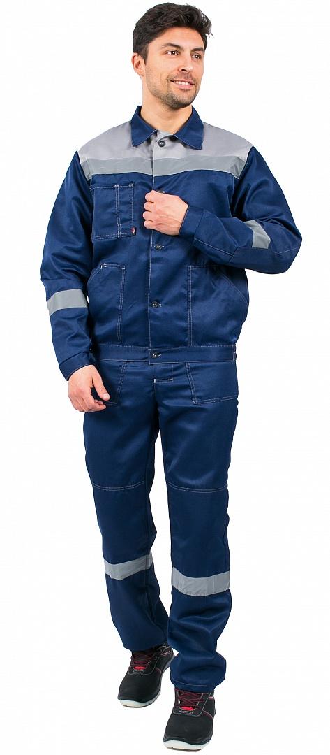 Костюм Легион-2 СОП (тк.Смесовая,210) п/к, т.синий/серый