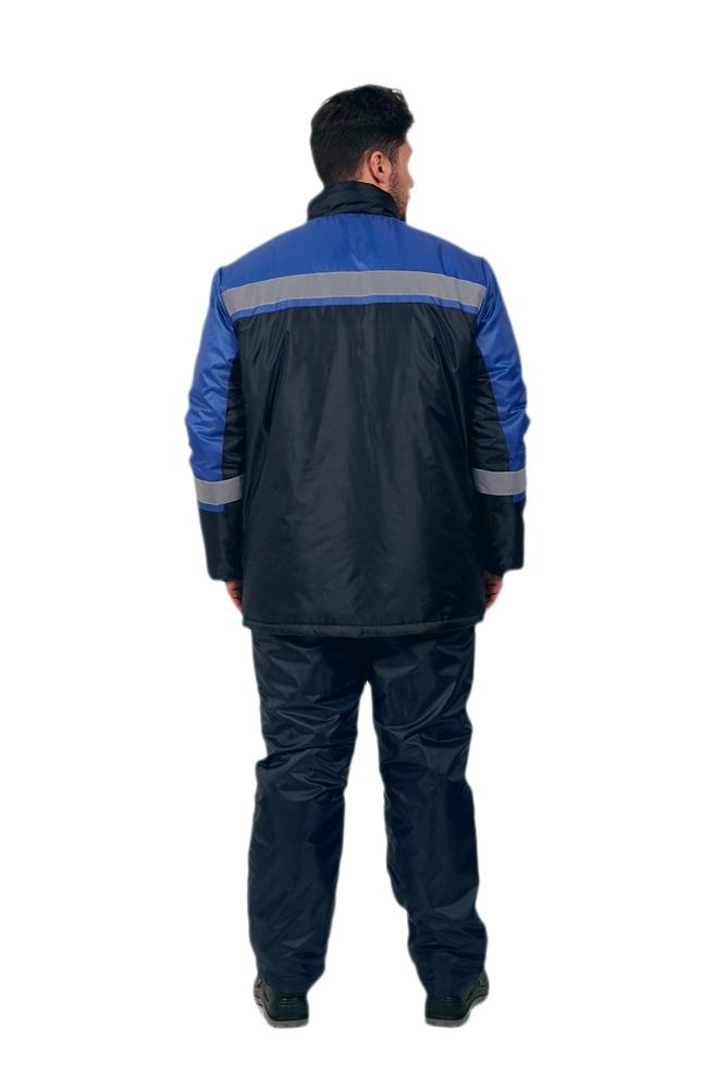 Костюм зимний Стандарт (тк.Оксфорд) брюки, т.синий/васильковый