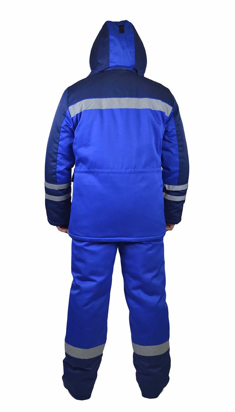 Костюм мужской зимний «Сибиряк» куртка, брюки васильковый с т-син с СОП